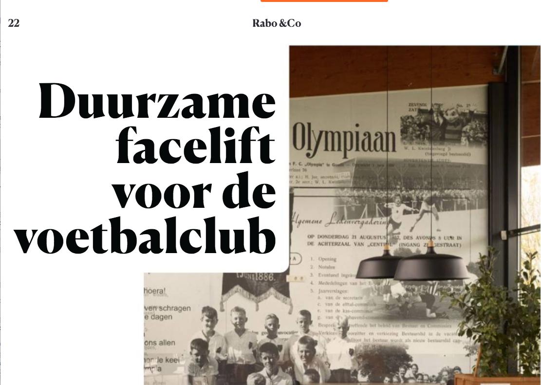 Olympia in voorjaarseditie magazine Rabobank