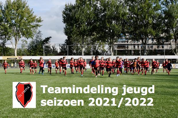 Teamindeling jeugd 2021/2022 is bekend